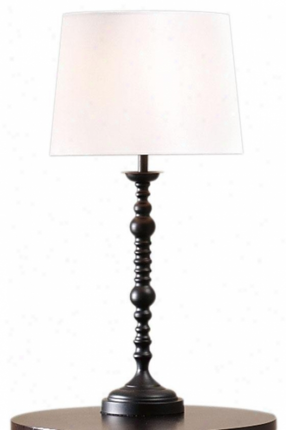 """adrian1 4""""w Table Lamp - 29""""hx14""""w, Black"""