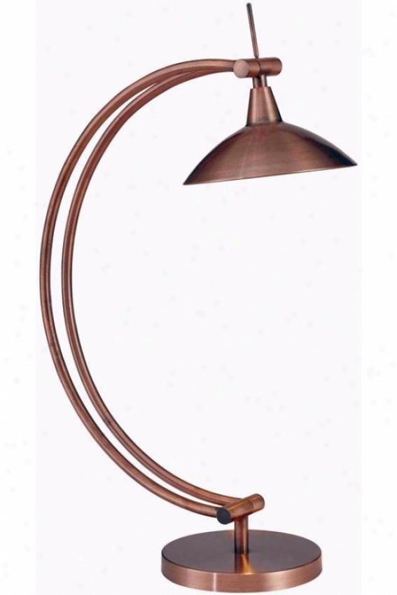 """adrian Deskk Lamp - 20""""h, Vintage Copper"""