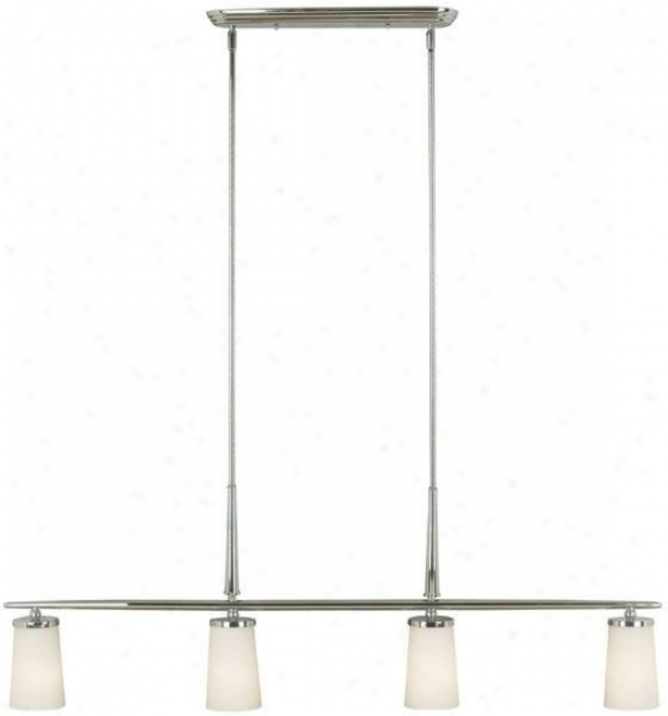"""aerial 4-light Island Ligh5 - 60""""hx46""""w, Steel Gray Nickel"""