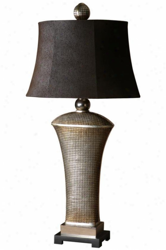 """afton Table Lamp - 36.5""""hx18""""w, Silver"""