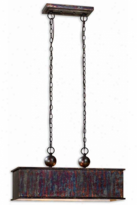 Albiano Rectangular Pendant - 2 Light, Bronze