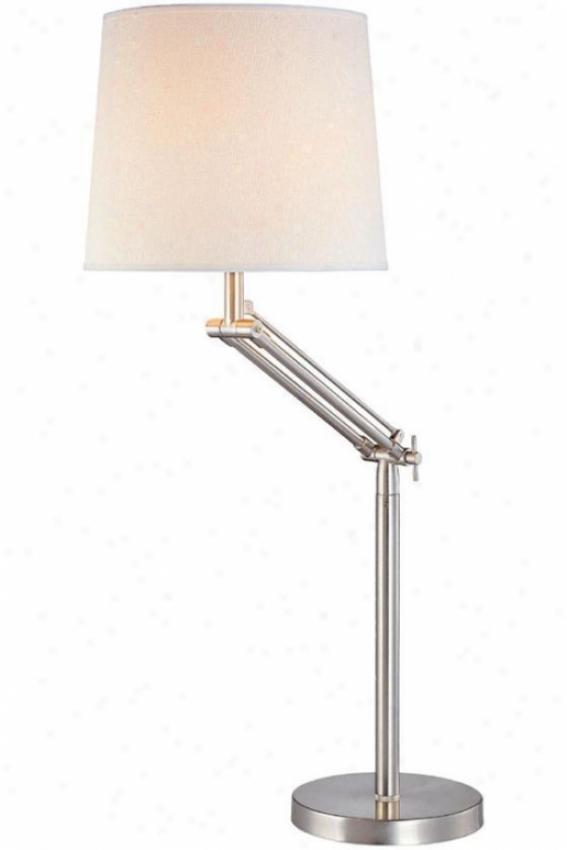 """alleda Swing-arm Lamp - 28""""hx21""""d, Silver"""