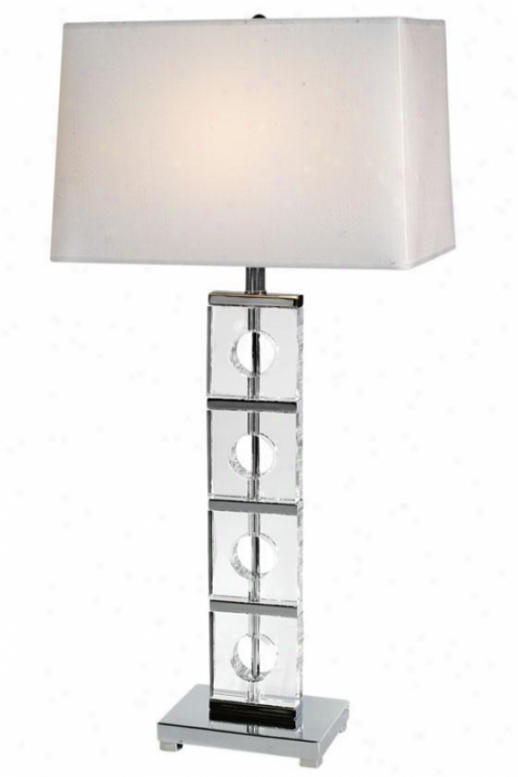 """ana Table Lamp - 32""""hx15""""w, Silver Chrome"""