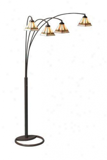 """arc Floor Lamp Fixture - 87""""hx65""""w, Bronze"""