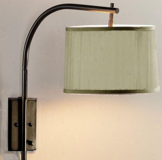 Arch Large Swing-arm Pin-up Lamp - Sage, Copper Bronze