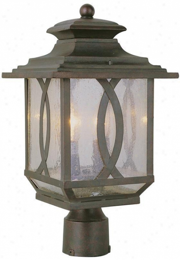 Arden Post-top Lantern - 2 Light, Brown