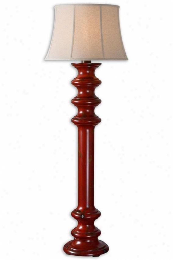"""""""ashher Floor Lamp - 65""""""""h X 22""""""""w, Dark Red"""""""