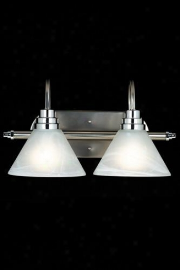Astoria 2-light Bath Lighting - Two-light, Silver