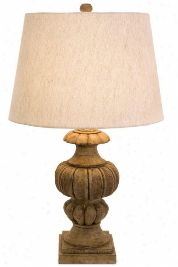 """audrey Table Lamp - 21""""hx7.5""""dd, Brown"""