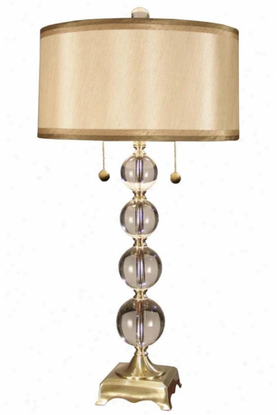 """aurora 32""""h Crystal Table Lamp - 32h X 16""""d, Copper Brass"""