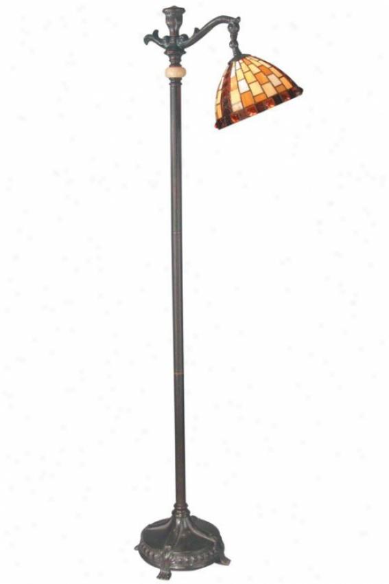 """baroque Overthrow Lamp - 65h X 21""""d, Fieldstone"""