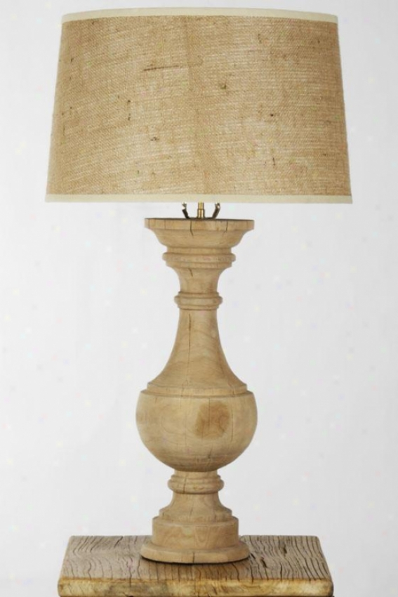 Bedale Table Lamp - 31hx24wx24d, Ivory
