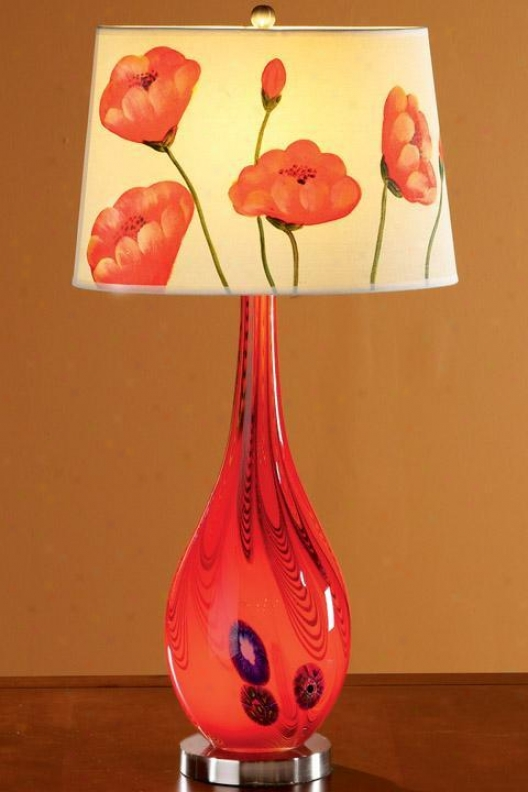 """bellini Sttatford Table Lamp With Light-up Base - Hand-painted Shade - 29.5""""h, Hand-painted"""
