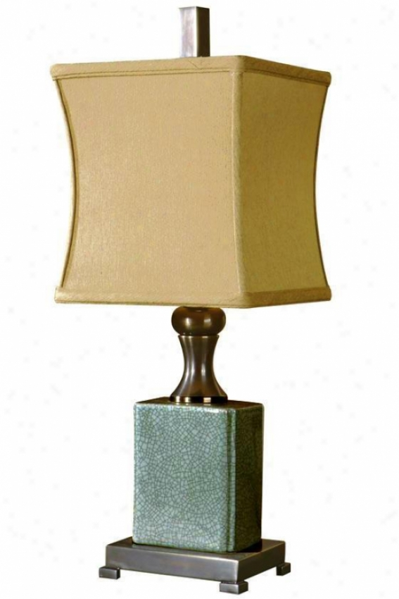 """bernadette Table Lamp - 24.25""""hx9""""sq, Blue"""