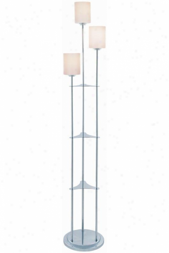 """bess Floor Lamp - 63.5""""hx10""""d, Silver Chrome"""