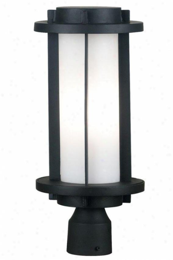 Blake Outdoor Post Lantern - 2-light, Espresso Bronze