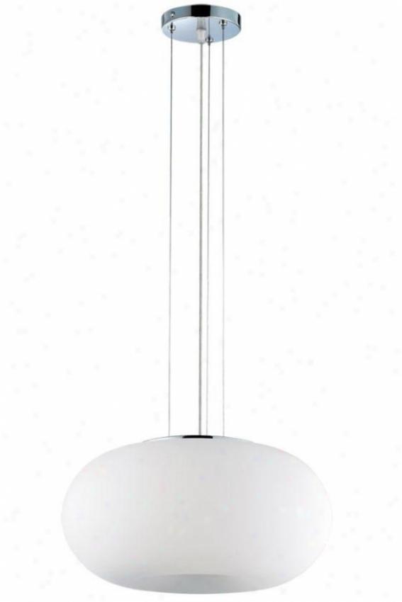 oBom Convertible Pendant/flush Mount - Three Lighht, White