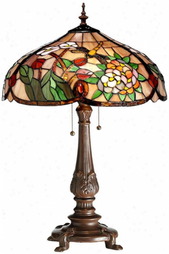 Bouquet Tiffany-style Table Lamp - Table Lamp, Red