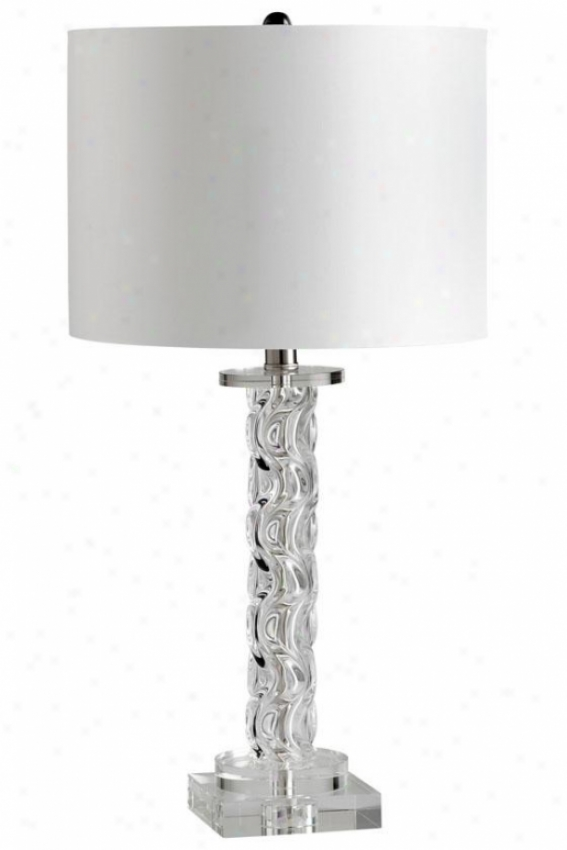 """brooklyn Lamp - 26""""hx13""""round, Clear"""