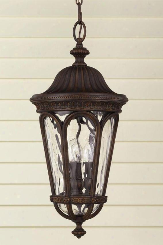 Buckingham Outdoor Pendant - Three Light, Brown Wood