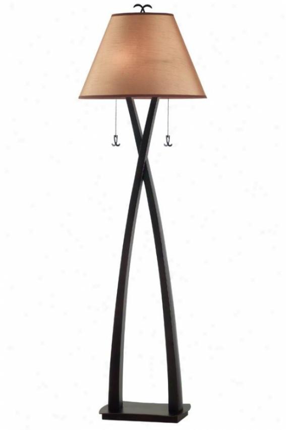"""cain Floor Lamp - 61""""h, Oil Rubbed Bronze"""