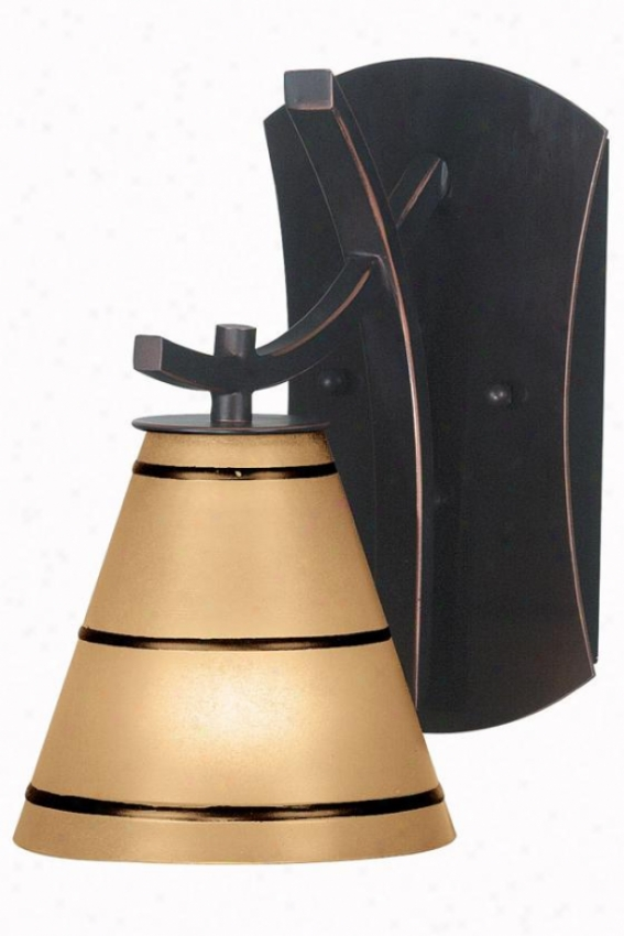 Cain Sconce - 1-light, Oil Rubbed Bronze