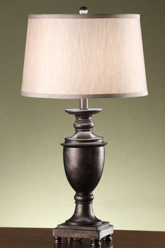 """""""cammy Table Lamp In Antique Pewter - 27.5""""""""h, Pewter"""""""