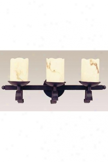 Candle Three-light Wall Sconce - Three-light, Black