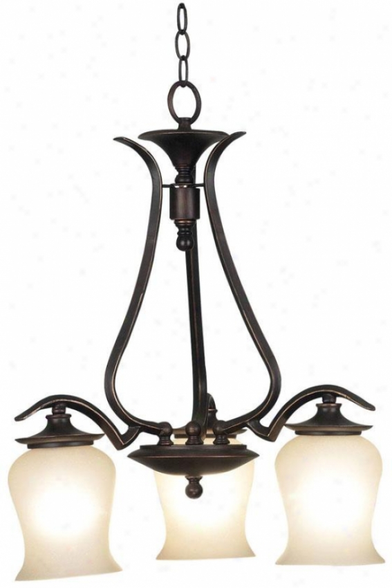 Carolinr Chandelier - 3-light, Oil Rubbed Bronze