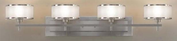 Casual Luxury Vanity Light - Four Illuminate, Grey Steel