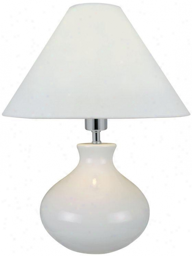 """chaka Table Lamp - 17""""hx14""""d, White"""