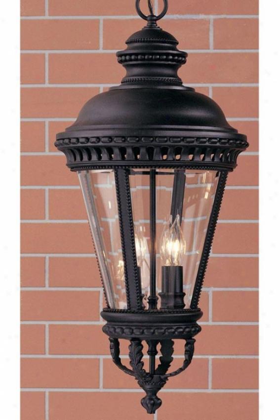 Chamberlaine Outdoor Pendant - Four Light, Black