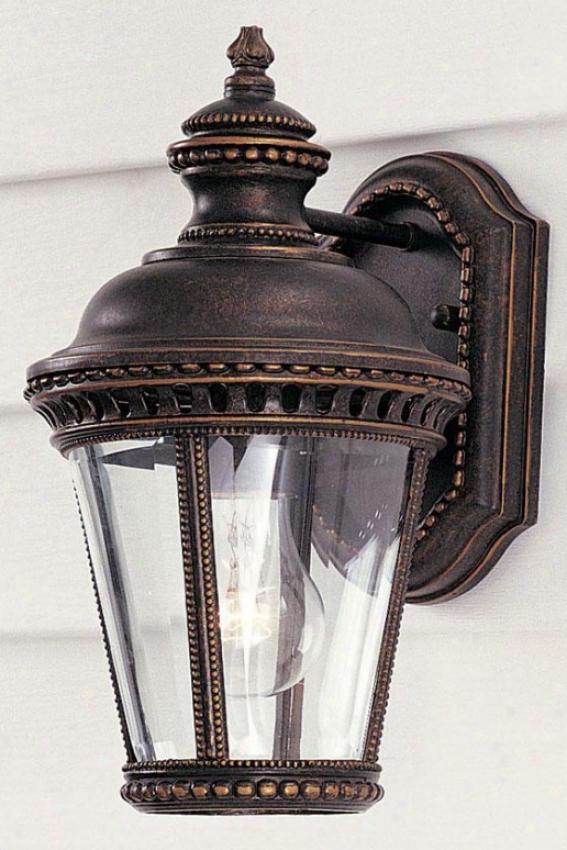 Chamberlaine Outdoor Wall Lantern - One Light, Grecian Bronze