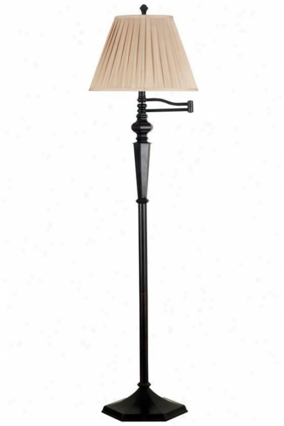 """chesapeake Swing-arm Floor Lamp - 60""""hx16""""d, Oil Rubbed Bronze"""