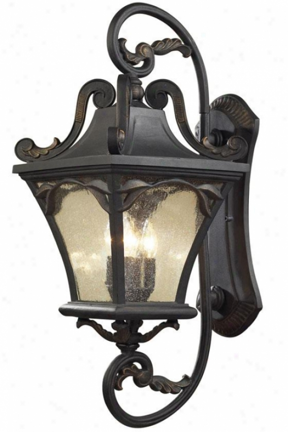 """""""chicago 32""""""""h Outdoor Sconce - 4-light, Weathrd Chrcoal"""""""