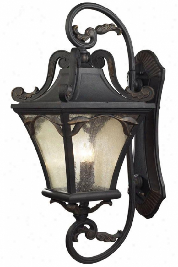 """chicago 41""""h Outdopr Sconce - 5-light, Weathrd Chrcoal"""