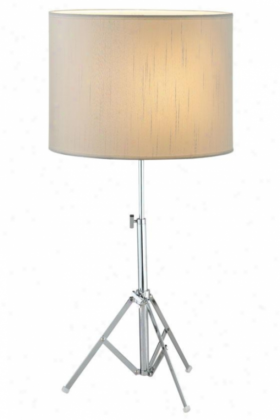 """chorus Table Lamp - 27.5""""h, Silver Chrome"""