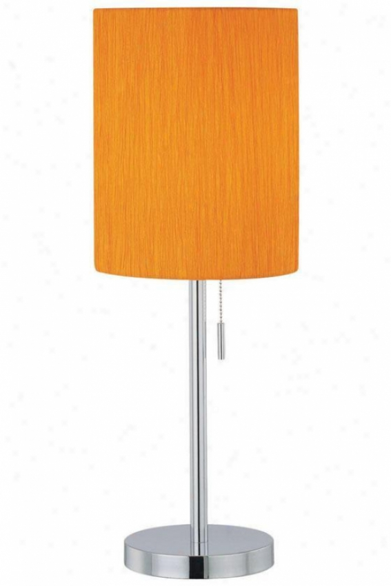 """chroma Table Lamp - 23.5""""hx8.5""""d, Orange"""