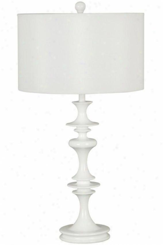 Claiborne Table Lamp - Pure Drum, White