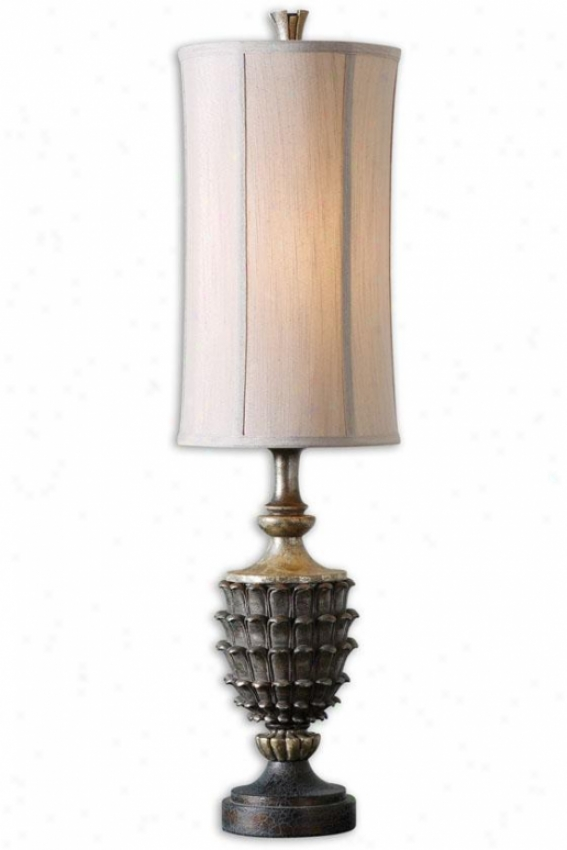 """clemente Buffet Lamp - 37""""h, Polish Silver"""
