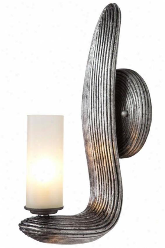 Continuity 1-light Sconce - Single Light, Bl Slv/pt Frost