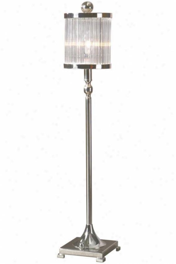 """""""cordelia Bffet Lamp - 32.25""""""""hx6""""""""sq, Silver"""""""