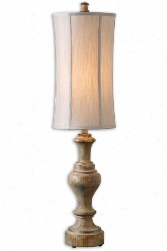 """corinaldo Tqble Lamp - 40""""h, Ash Gray"""