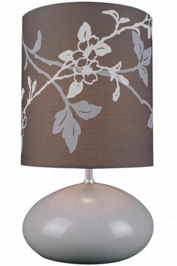 """cornell Table Lamp - 14""""hx8""""d, Coffee Brown"""