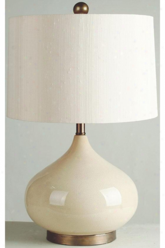 """""""crackled Table Lamp - 25.5""""""""hx16""""""""w, Almond"""""""