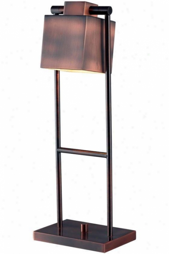 """""""crimmins Desk Lamp - 20""""""""h, Vintage Copper"""""""