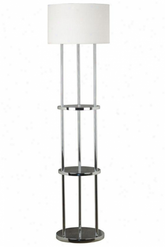 """curio Floor Lamp - 61""""h X 16""""w, Silver Chrome"""