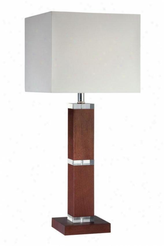 """dallan Table Lamp - 28.25""""h X 12""""w, Brown Wood"""