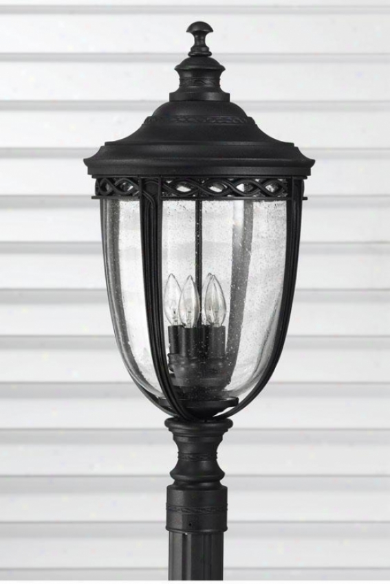 Darmoth Outddoor Lamp Post - Four Light, Black