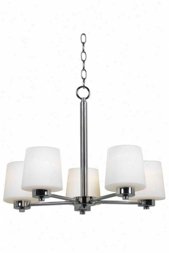 Diana Chandelier - 5-light, Soft and clear  Chrome